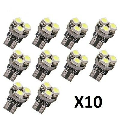 10x 3 SMD LED Car T5 Canbus Error Free 12V Dashboard Light Instrument Bulbs