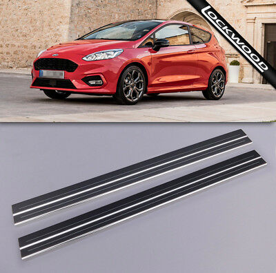 Ford Fiesta Mk8 2 Door (Released 2017) Stainless Sill Protectors / Kick plates