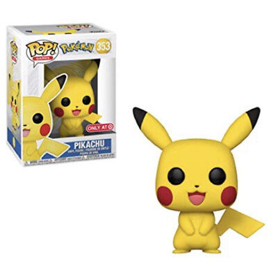 Funko Pop Games Pokemon Pikachu #353 Exclusive Vinyl Figure with Protector Box