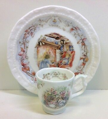 """Royal Doulton """"Brambly Hedge"""" Winter Plate & Miniature Summer Tea Cup."""