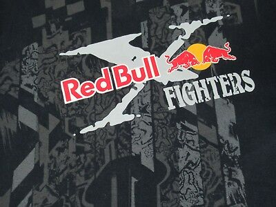 Red Bull Combattenti Fox Racing Motocross - Grande Nera T-Shirt - S1798