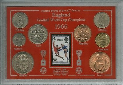 England World Cup 66 Champions Final Winners Retro Coin & Stamp Gift Set 1966