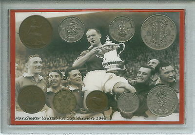 Manchester United Man U Utd Vintage F.A Cup Final Winners Coin Gift Set 1948
