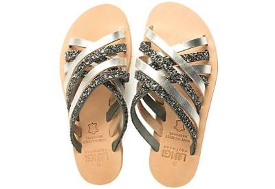 Ancient Greek Style Womens Sandals Handmade Genuine Leather Shoes Spartan Roman