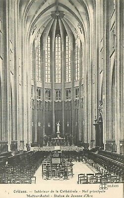 Cp Orleans Cathedrale Interieur Nef