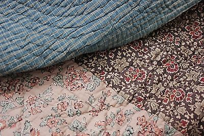 Antique French piquee boutis quilt c1795 - 1820 LARGE printed 102X108 !!!