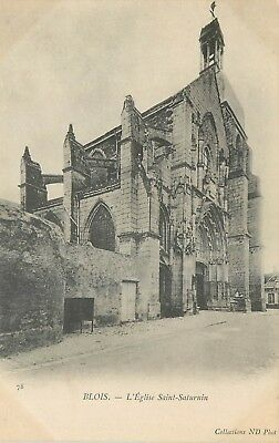 Cp Blois Eglise Saint-Saturnin Nd