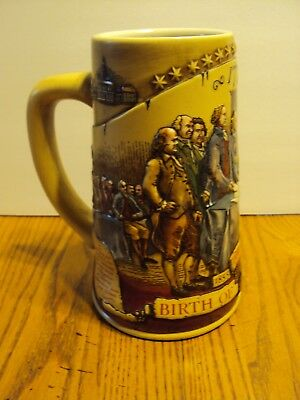 "Miller High Life Ceramic Beer Stein 1992 Birth Of A Nation 7"" Tall 2Nd In Series"