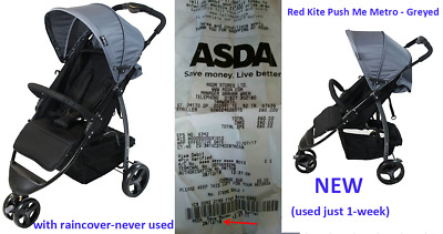 Red Kite Baby Buggy Stroller Pushchair Compact Lightweight Push Me Metro Grey