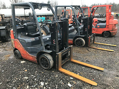 2008 Toyota 8FGCU25 Forklift, Propane, 4,250 Lbs Capacity