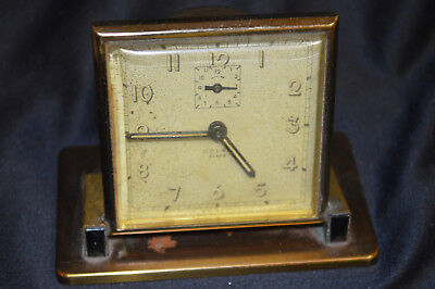 Rare Vintage Colby Alarm Clock Made in U.S.A. Running Condition, Missing 1 Knob