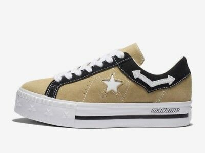 CONVERSE X MADEME Women s Size 7.5 Low Top Shoes One Star Leather ... 4866959c0