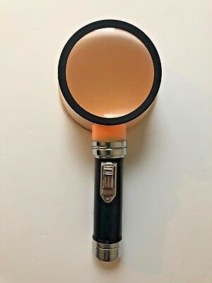 Hand Held Lighted Magnifying Glass Japan Vintage Collectible Unique Batteries