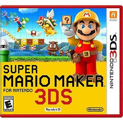 Super Mario Maker For Nintendo Nintendo For 3DS With Manual And Case 0E