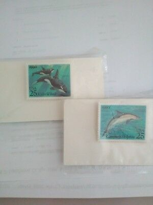 Commemorative  25 Cent Dolphin And Whale Pins