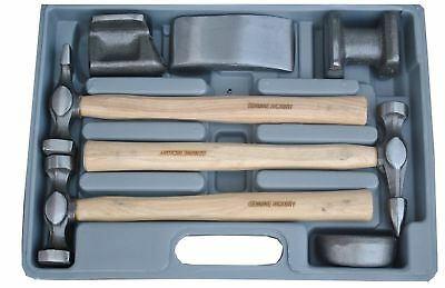 Tool Hub Panel Beating Set 7 Piece Drop-Forged Hickory Shafts Hammers 9205