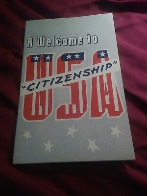 A Welcome To USA Citizenship Pamphlet 1953