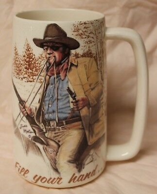John Wayne Fill Your Hand... Limited Ed #413 Mug/stein By Susie Morton 1984