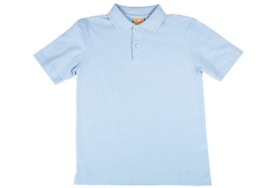 Stubbies School Wear Kids Short Sleeve Polo Light Blue BNWT Sz 10