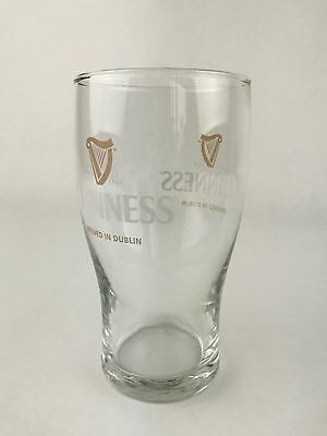 Guinness Draught Beer Glass - Brand New & Unused - Pub / Bar / Bbq / Man Cave