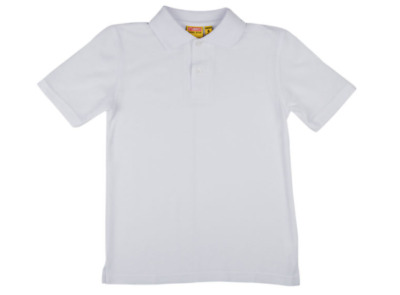 Stubbies School Wear Kids Short Sleeve Polo White BNWT Sz 4.
