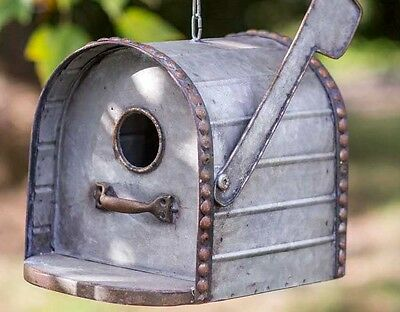 MAILBOX BIRDHOUSE ALL Metal BIRD HOUSE GR8 Details & Country Charm