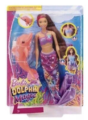 Barbie Dolphin Magic Transforming Mermaid Doll AAL1