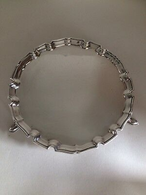 Edward Barnard & Sons Antique Solid Sterling Silver Serving Tray