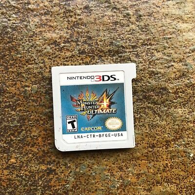 Monster Hunter 4 Ultimate (Nintendo 3DS, 2015) - GREAT CONDITION, FREE SHIPPING