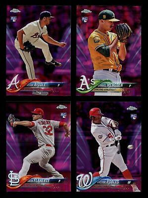 2018 Topps Chrome Baseball Update Pink Refractor U-Pick Complete Your Set