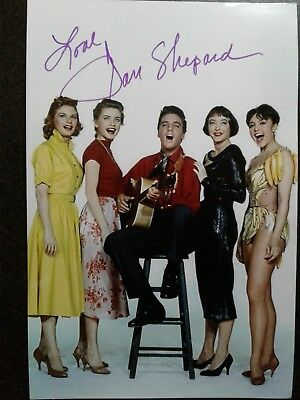 Jan Shepard Hand Signed 4X6 Photo with ELVIS PRESLEY  - King Creole -VERY RARE