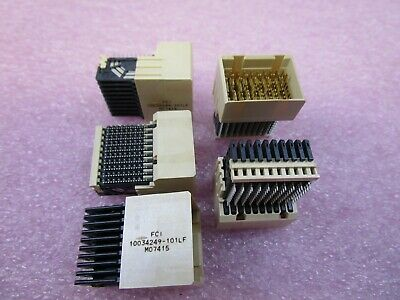 (5 NEW) 10034249-101LF - FCI Electronics Backplane / Hard Metric / DIN