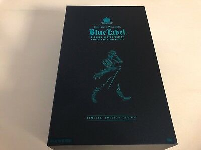Limited Edition Rare Johnnie Walker Blue Label Empty Deluxe Box Bottle/Glasses