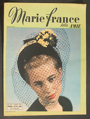 'marie-France' French Vintage Magazine 5 March 1947