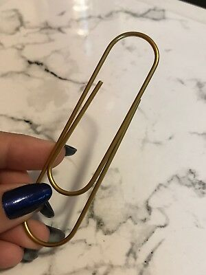 Large Paper Clip GOLD by Kat's Planner