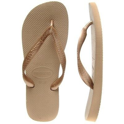New Havaianas Rose Gold Top Tira Thongs By OZSALE