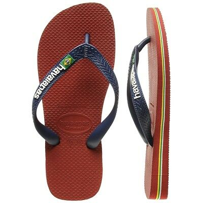New Havaianas Red Brasil Logo Thongs By OZSALE