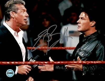 Eric Bischoff WCW NWO WWE Signed Autographed 8x10 Photo FSG Authenticated 3 Autographed Wrestling Photos