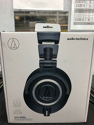 NEW Audio Technica ATH-M50x Professional Monitor Headphones - Black