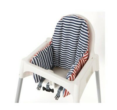 💙💙Baby Highchair Cushion Cover Reversible 2 Colour red or Blue Pyttig 💙💜