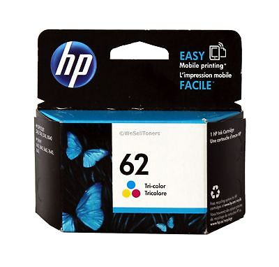HP 62 Tri-Color Ink Cartridge C2P06AN Genuine New