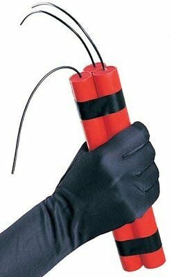 PHONEY DYNAMITE 3 RED STICKS PACK Fake Fuse TNT Toy Joke Stage Prop Bomb Fire