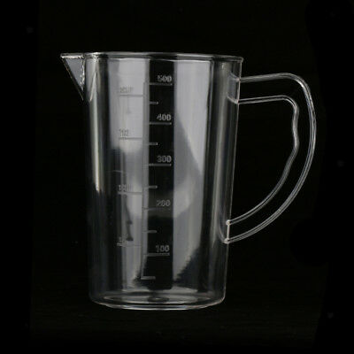 500ml Acrylic Clear Measuring Measurement Cup Jug Milk Water Cup Lab Kitchen