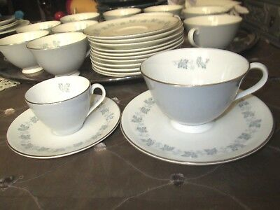 Antique Set of 4 Royal Doulton SMALL LYRIC Demitasse Cups & Saucers--ENGLAND