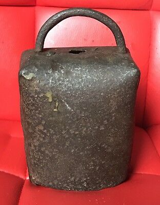 Genuine Antique Cow Bell 7 Inches Tall Hand Forged Dairy Farm Collectible