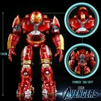 Avengers 2 Iron Man Hulkbuster Armor Joints Movable 18CM Mark With LED Light PVC
