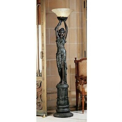 """73"""" 18th Century French European Place d' L'etoille Torch style Lamp"""