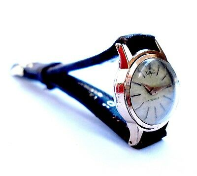 Vintage Watch Swiss DELBANA Art Deco 1930c Mechanical Gold Plated Lady Working