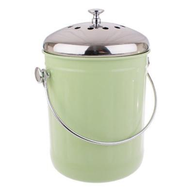Green Compost Bucket Bin Waste Food Garden Recycling Scrap Trash 5L