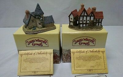 David Winter Vicarage & The Apothecarys Shop Both 1985 COA  & Original Boxes.